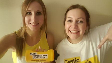 Hannah Page (left) and Hannah Wilkinson are celebrating their 30th birthdays by running the London M
