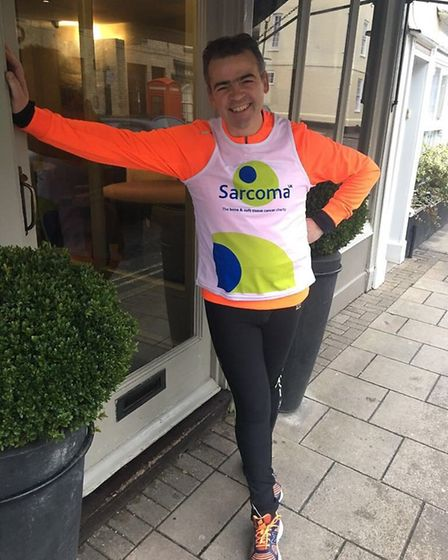 Pascal Canevet – running for Sarcoma UK. Picture: KARINE CANEVET