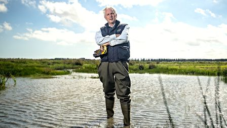 Suffolk Wildlife Trust chief executive Julian Roughton views part of the charity's Carlton Marshes