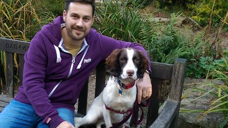 Billy Pryke and his dog Reggie. Picture: BILLY PRYKE