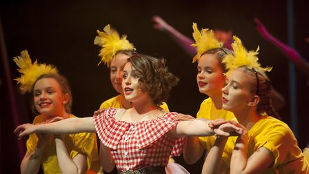 The children at Finborough School put on a bold performance at DanceEast in Ipswich. Picture: FINBOR