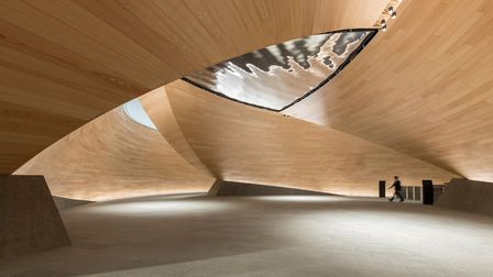 The Vortex is a literal and metaphorical 'twist' on the classic timber-panelled lobbies that define