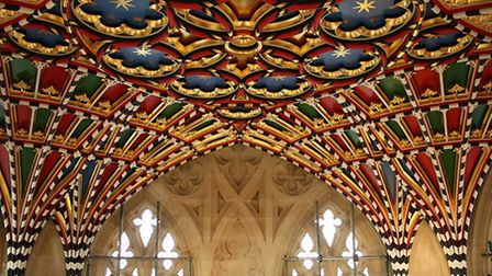 The tower roof at the cathedral in Bury St Edmunds