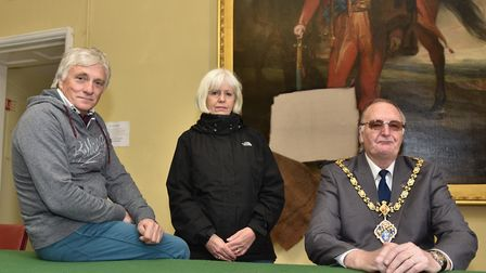Eye Town Hall was broken into and several paintings were vandalised over the Easter weekend. Cllr Ri
