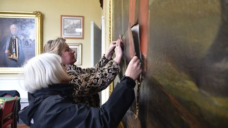 Eye Town Hall was broken into and several paintings were vandalised over the Easter weekend. Picture