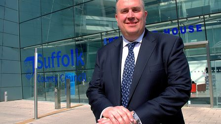 Leader of Suffolk County Council Colin Noble. Picture: SIMON PARKER