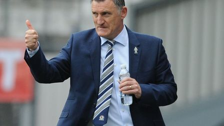 Tony Mowbray has Blackburn Rovers in the thick of a League One promotion push. Photo: PA