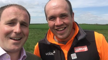 Josh Gilbet (right) pictured with his friend Ed Ford. Picture: ED FORD