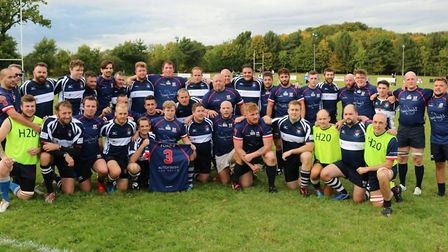 Thurston Rangers and Sudbury RFC held a memorial match in honour of Josh Gilbert. Picture: STEWART A
