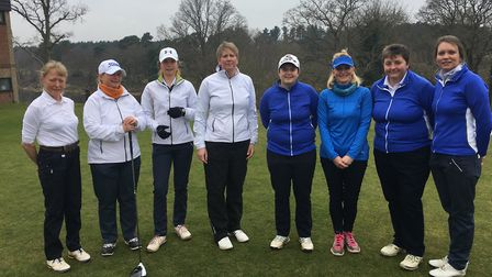 Suffolk Ladies, from left: Anne Gallagher, Lils James, Lottie Whyman, Amanda Norman, Alice Barlow, S