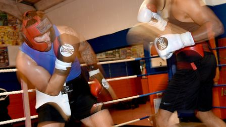 Fabio Wardley, right, has been sparring top British pros Sam Sexton, Dereck Chisora and Dillian Whyt
