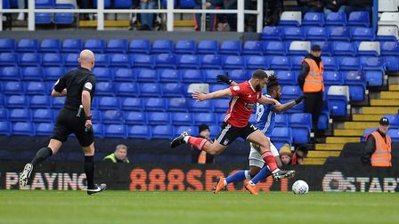 Cameron Carter-Vickers concedes the first half penalty at Birmingham Picture Pagepix