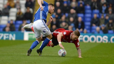 Martyn Waghorn is upended at Birmingham Picture Pagepix