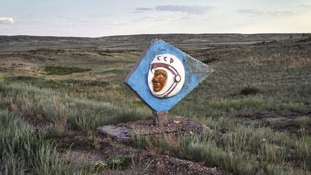 PhotoEast on the Ipswich Waterfront. Andrew McConnell - Astronaut sign near the Soyuz landing area,