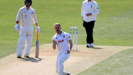 Essex's Jamie Porter, raring to go after a frustrating winter. Photo: PA