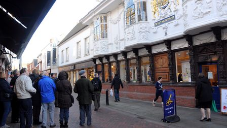 The Ancient House in Ipswich. Find out more about the town's history at the You Are Here exhibition,