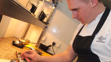 Chef Dave Wall at The Unruly Pig who is up for an award. Picture: SIMON PARKER