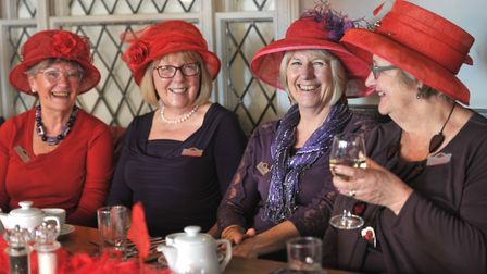 The Red Hat society started in America. The Woodbridge group has been running for a year. Picture: