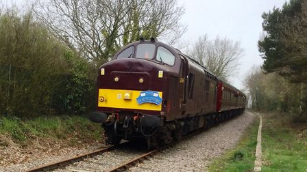 """The Charity Railtours' """"Mayflower"""" train arrives in Leiston. Picture: RON GEATER"""