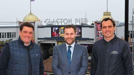 Billy Ball, pier director, Ross Wiltshire, partner at Ellisons Solicitors, and Elliott Ball, pier di