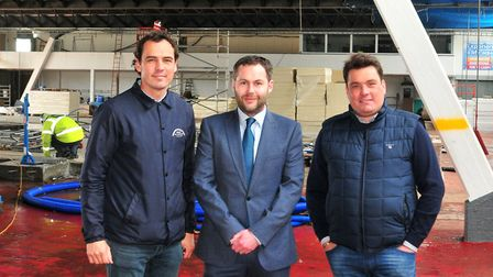 Elliott Ball, pier director, Ross Wiltshire, partner at Ellisons Solicitors, and Billy Ball, pier di
