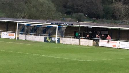 Heybridge Swifts fans, who were as vocal as always, supportng their team during the first half of to