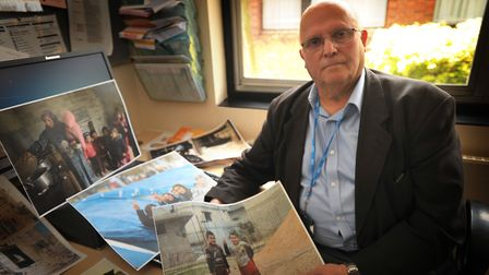 Dr Fayez Ayache said he was desperate for the world's powers to find a peaceful solution in war-torn