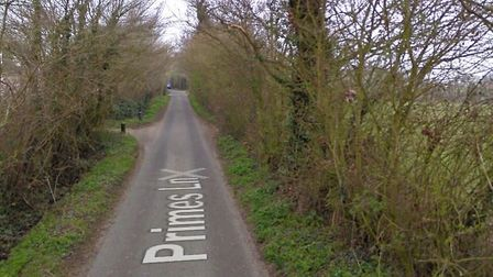 The lorry was discovered in Primes Lane, Halesworth. Picture: GOOGLE MAPS