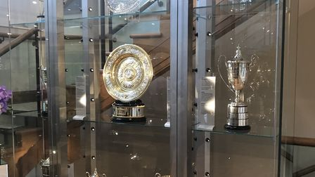 The famous Wimbledon trophies as seen by Nino Severino on his trip to the club. Picture: NINO SEVERI