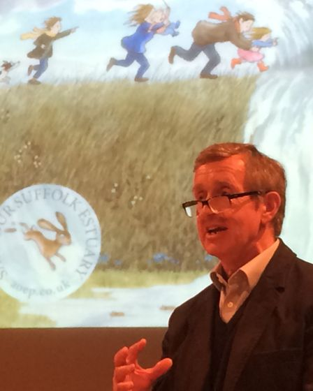 The Estuary Partnership's chairman Sir Edward Greenwell gave an update on estuary defence plans at i