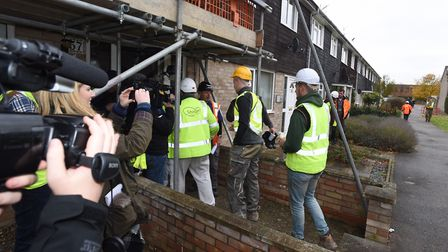 TV show DIY SOS in Mildenhall. Picture: GREGG BROWN