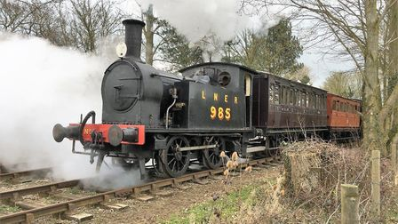 The Mid Suffolk Light Railway opened for the season with a steam weekend over Easter. Picture: PAUL