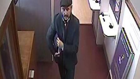 Police want to speak to this man in connection with a fraud in a bank in Great Baddow. Picture: SUPP
