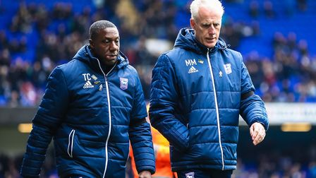 Town manager Mick McCarthy (right) and his assistant Terry Connor will leave at the end of the seaso