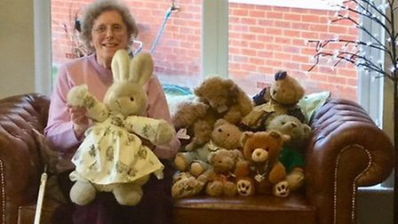 Mills Meadow resident Peggy Courteen shared her poem The Tale of the Teddies during the poetry celeb