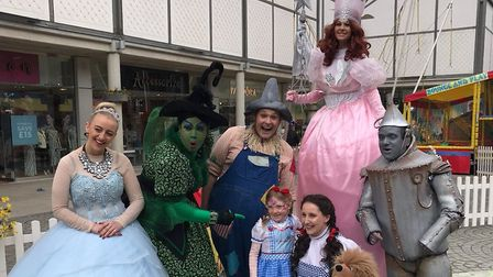 Characters from the Wizard of Oz panto were in Bury St Edmunds this week. Picture: DANIELLE RIBBON