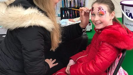 Face-painting was available. Picture: DANIELLE RIBBON