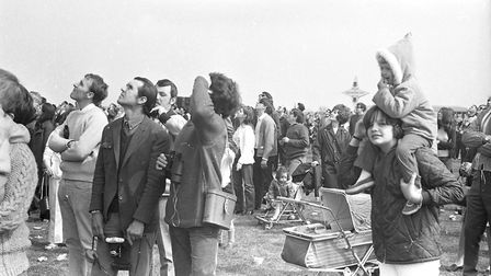 A huge crowd turned out for the open day at RAF Bentwaters in 1970. Picture: JOHN KERR