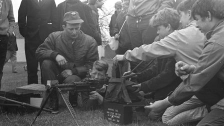 Guests had a chance to 'have a go' at the Bentwaters open day in 1970. Picture: JOHN KERR
