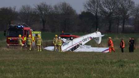 A light aircraft crashed in Beccles. Picture: PAUL COSSEY