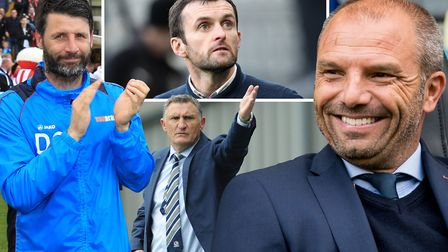 Danny Cowley, Nathan Jones, Tony Mowbray and Maurice Steijn have all been linked with the Ipswich To