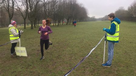 One of the first female finishers at last Saturday's Stevenage parkrun, which attracted a field of 2