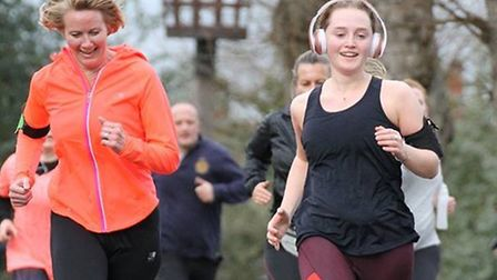 Some of the 414 finishers at Saturday's ever-popular Colchester Castle Parkrun; Pictures: LW PHOTOGR