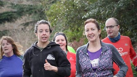Runners enjoying the weekly 5K challenge at the Colchester Castle parkrun, at Castle Park. Picture: