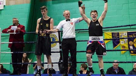 Cameron Elvin of Eastgate Amateur Boxing Club was voted by the Amateur Boxing Association judges as