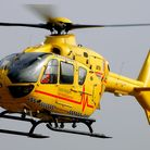 Two East Anglian Air Ambulances attended the scene. Picture: SIMON PARKER