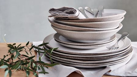 Summer decor style Olivia stoneware dinner collection, from �8, Habitat. r. Picture: Lol Johnson/