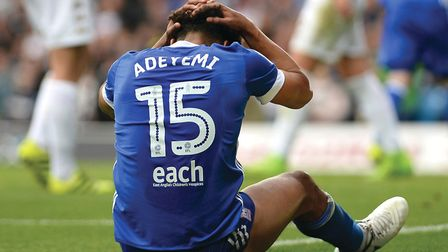 Tom Adeyemi has struggled with injury throughout his Ipswich Town season. Picture Pagepix