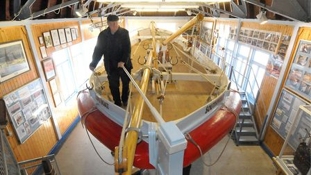 Museum curator Frank Upcraft on board the restored Alfred Corry in 2010. Picture: ANDY DARNELL
