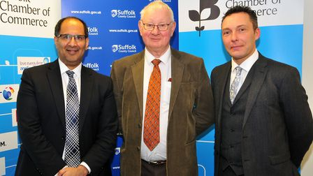 From left, Abdul Razzaq, Suffolk County Council�s director of public health and protection, Tony Gol